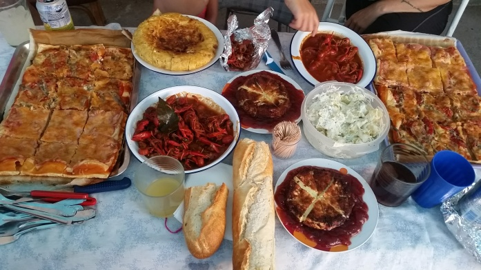 Typical Spanish food we eat at the farm