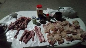 All types of pork & chicken!